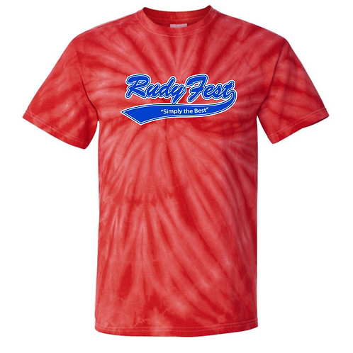 Rudy Fest Red Tie Dye Shirt Front