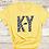 KY Daisy Kentucky Maize Yellow T-shirt Close Up