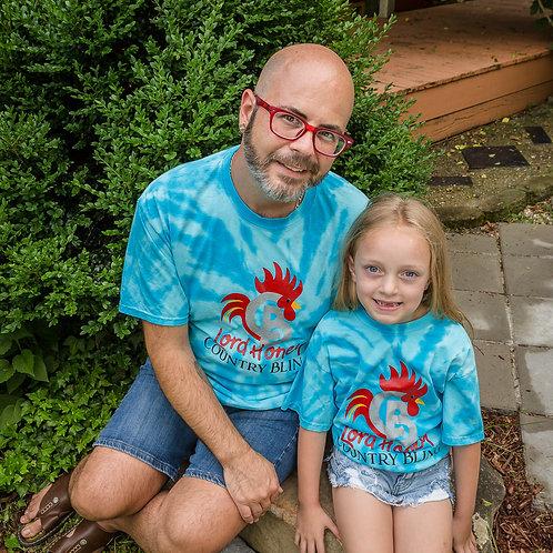 Kids Country Bling Tie Dye Logo Shirt