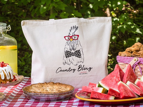 Chef Jason Smith Country Bling Rooster Tote Bag