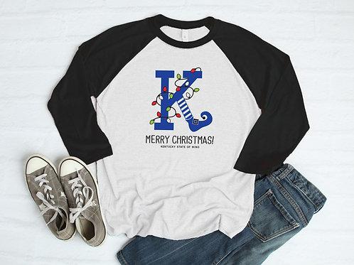 Kentucky K Elf Leg Christmas Shirt