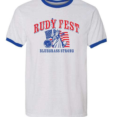 Rudy Fest Patriotic Bluegrass Ringer T-shirt