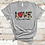 Valentines Day Camo Gray Shirt Red Heart