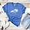 270 Kentucky Area Code Royal Blue Shirt