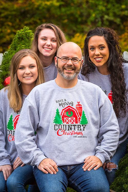 Chef Jason Smith Merry Country Christmas Sweatshirt