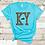 KY Leopard Print Kentucky Shirt Turquoise