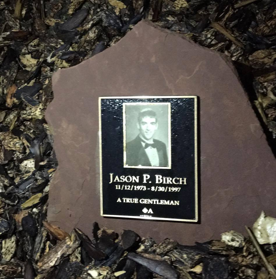 Birch memorial plaque at Kennedy Golf Course