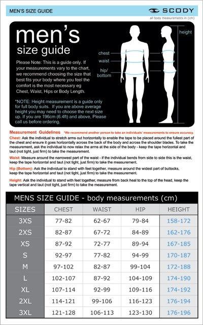 MRRM015 Merchandise Scody Mens Size Guid