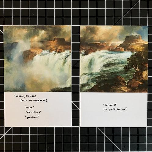Thomas Moran Postcard Diptych Poem