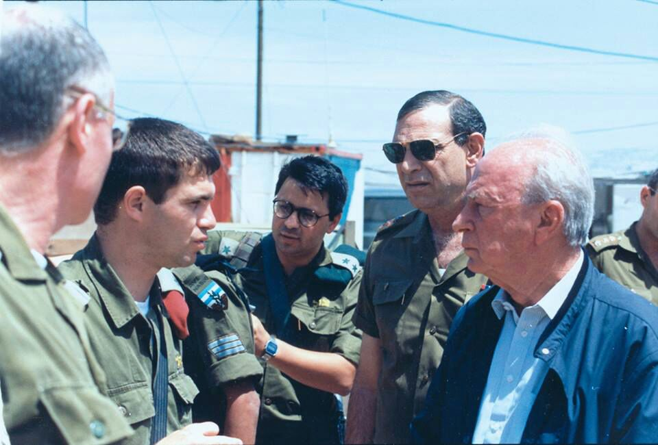 with the late Yitzhak Rabin