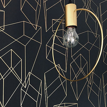 Wall paper graphic effect in gold.jpg