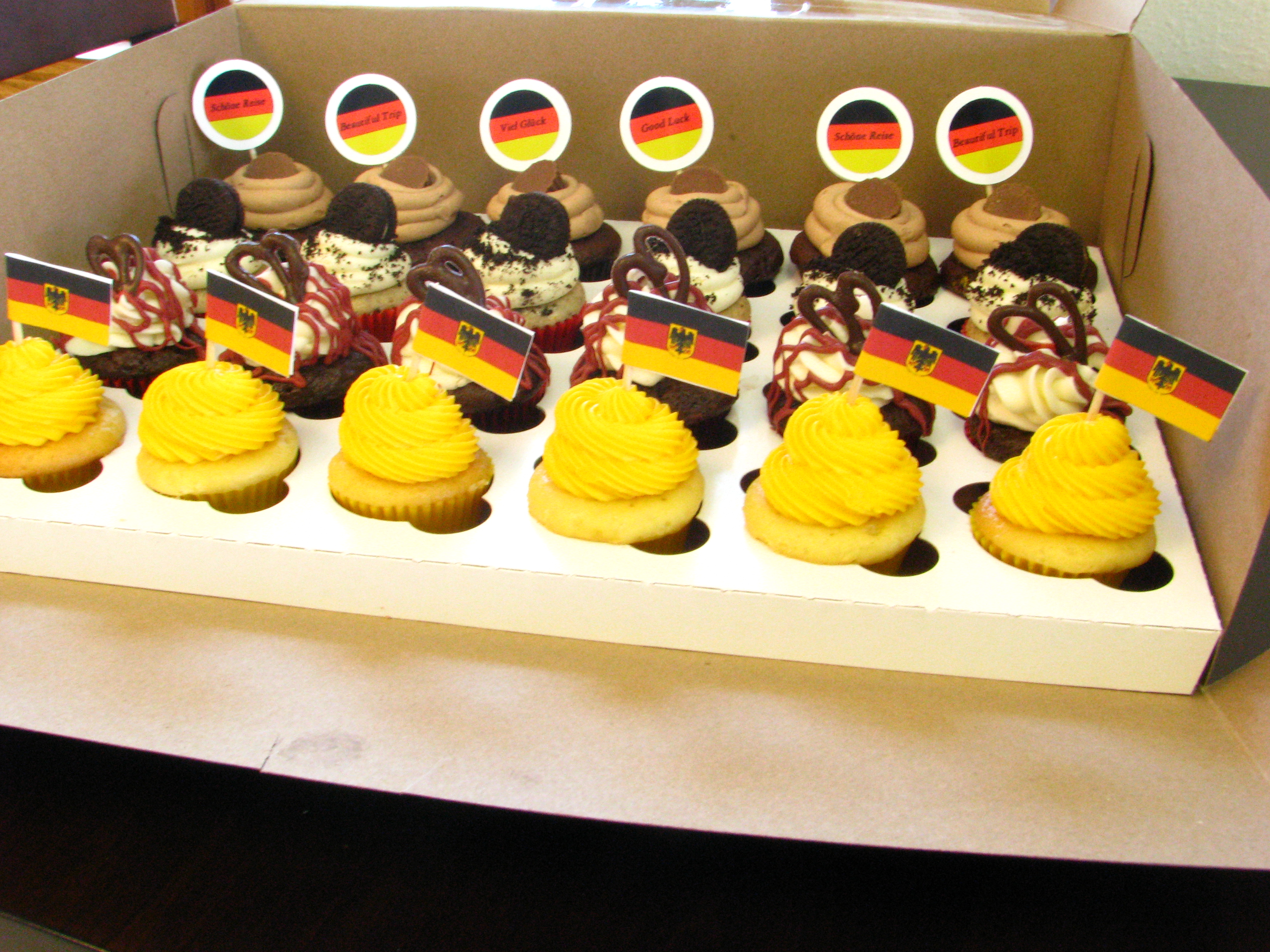 German-themed cupcakes