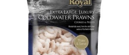 Extra large 2kg packs artic royal cold water prawns