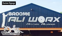 Broome Ali Worx Sign