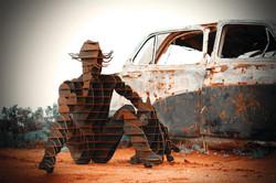 Farmer by car
