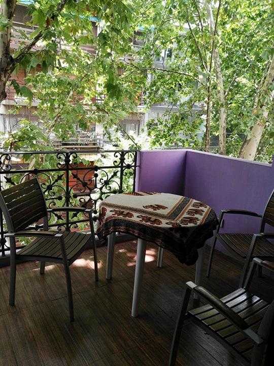 Luna Lila lejlighed terrasse