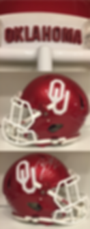 Oklahoma Sooners Football Helmet History Collection - MacGregor & Kelley Clear Shell Helmets, Riddell & Schutt Game Used