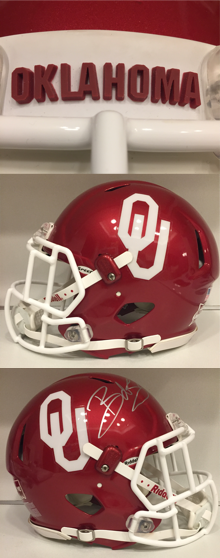 Oklahoma Sooners Football Helmet History Collection - MacGregor & Kelley Clear Shell Helmets, Riddell & Schutt Game Used