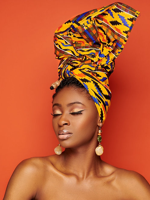 Turban & Créoles « Kente »