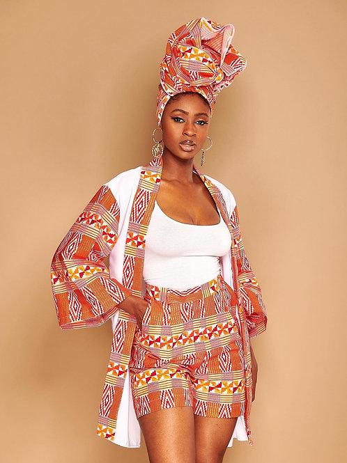 Kimono & short «Rosa mousseline»