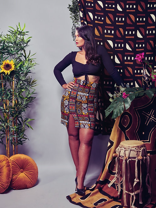 Jupe taille haute «Tribal»