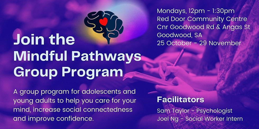 Mindful Pathways 6 week group program for adolescents and young adults.