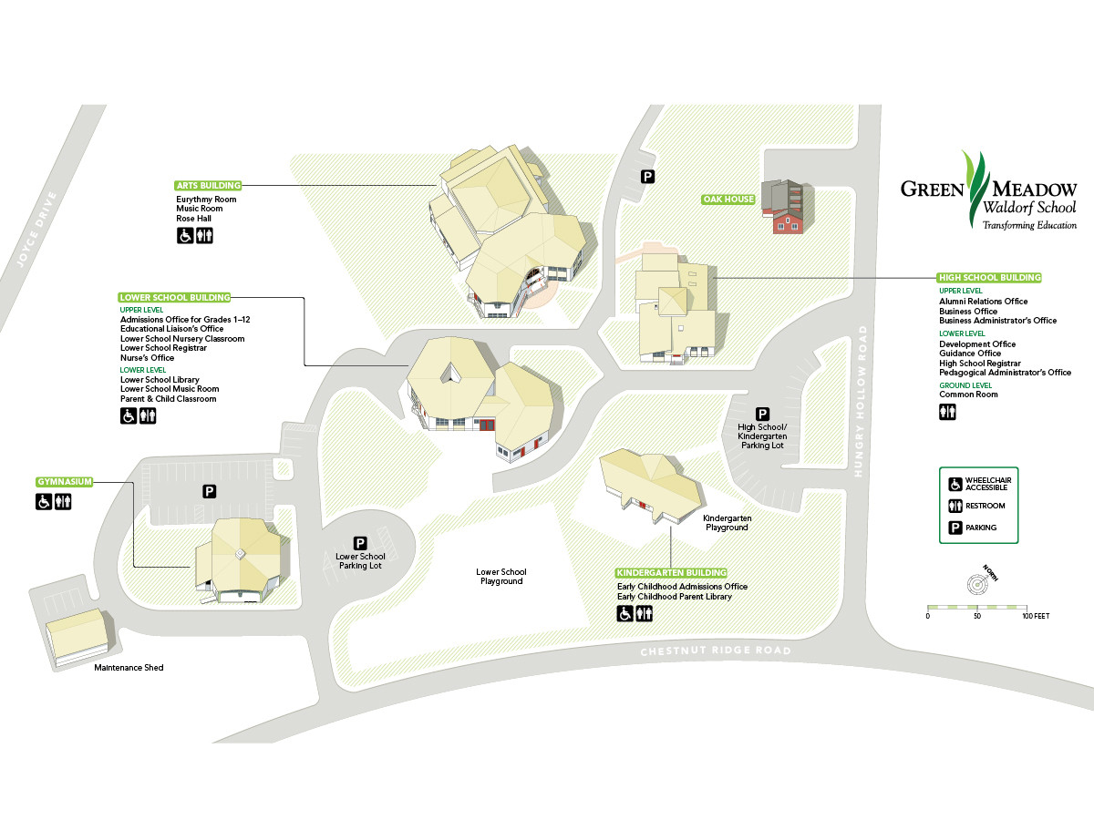 Green Meadow Waldorf School | Campus Map