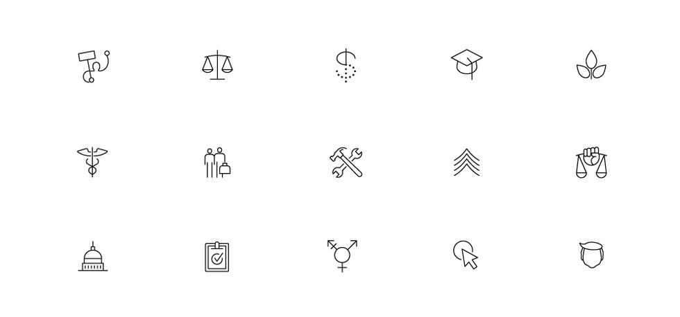 ProPublica Website Icons