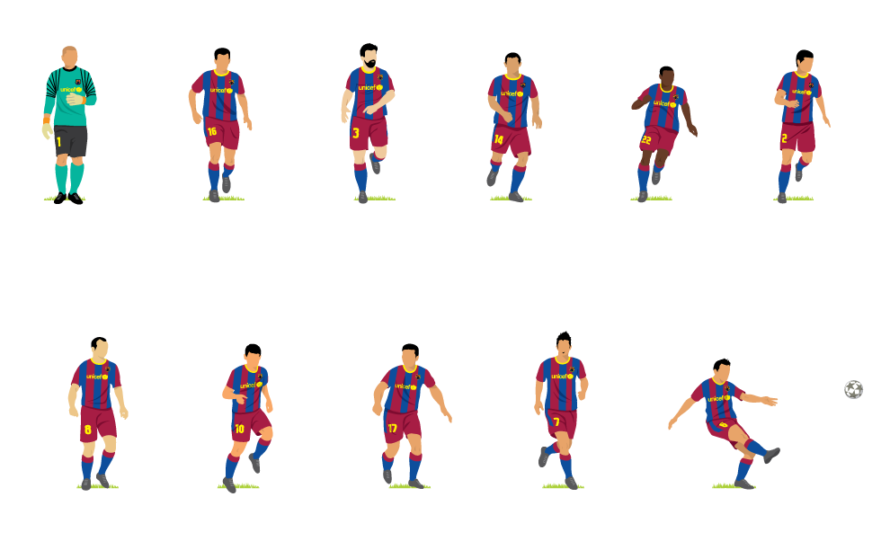 The 2012 FC Barcelona team  -Howler-