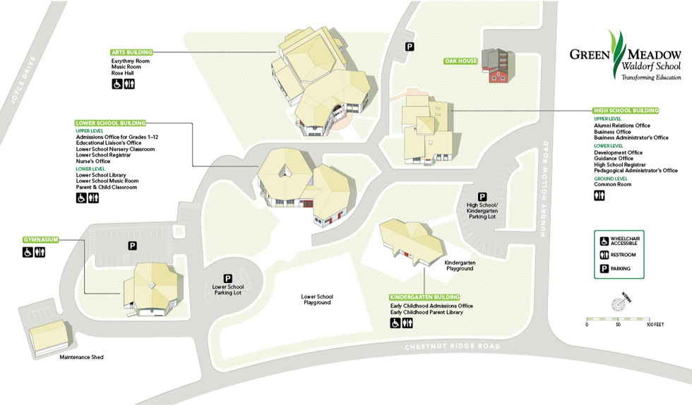 Green Meadow Waldorf School | Campus Map