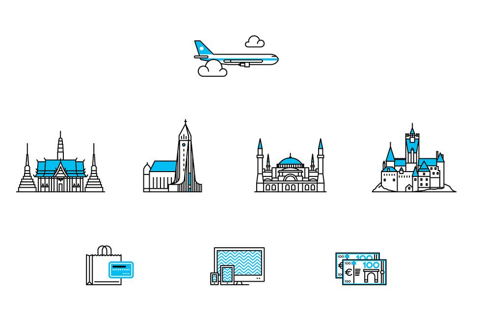 International travel  -Variety-
