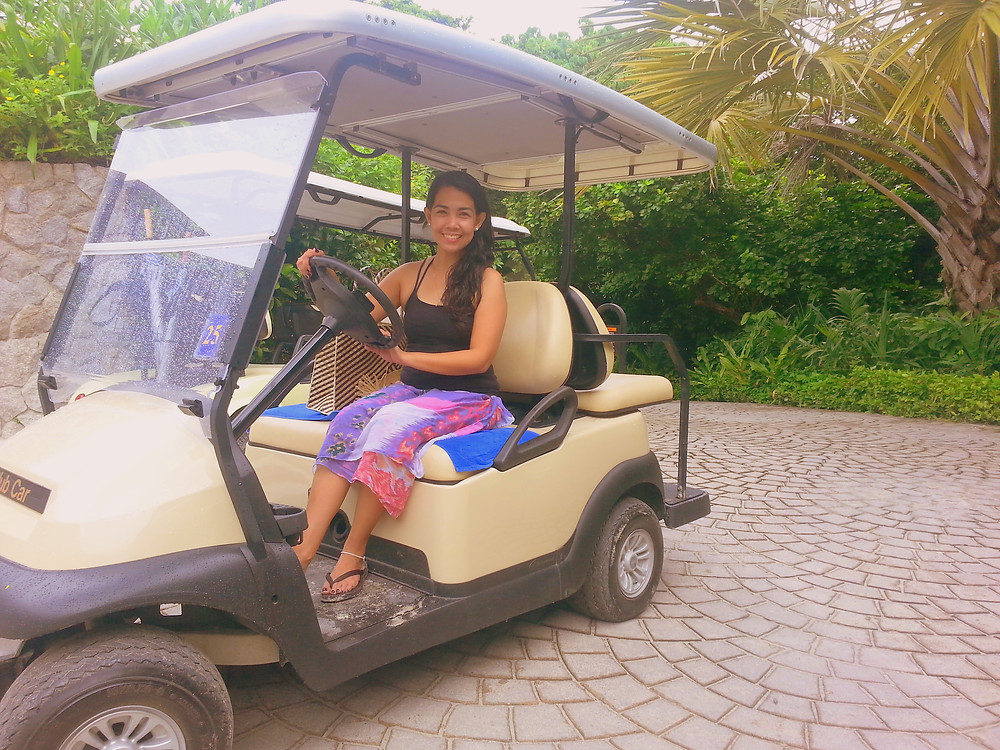 Golf Cart in Amanpulo