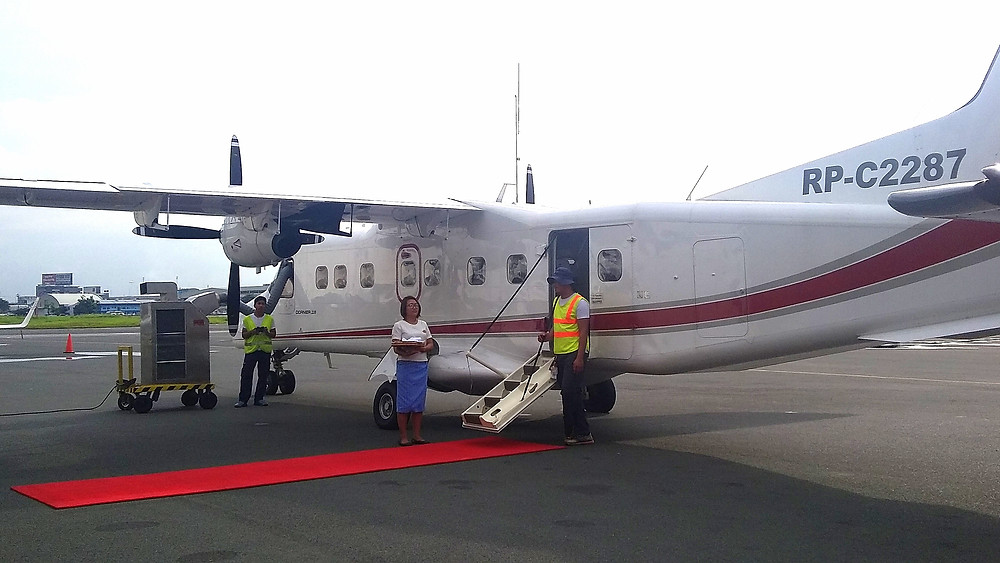 Amanpulo flight from Manila