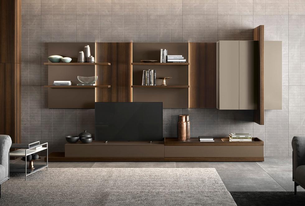 mueble de televisión moderno de madera salones modernos   muebles modernos sevilla   Estudio de interiorismo Sevilla