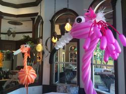 Flamingo Balloon Sculpture