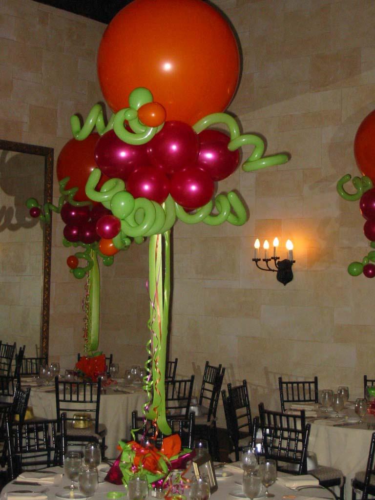 Tropical Themed Balloon Centerpiece