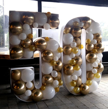 Mosaic Balloon Letters