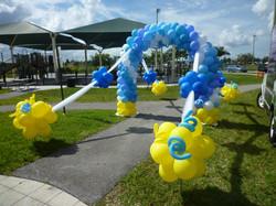 Outdoor Party Balloon Arch