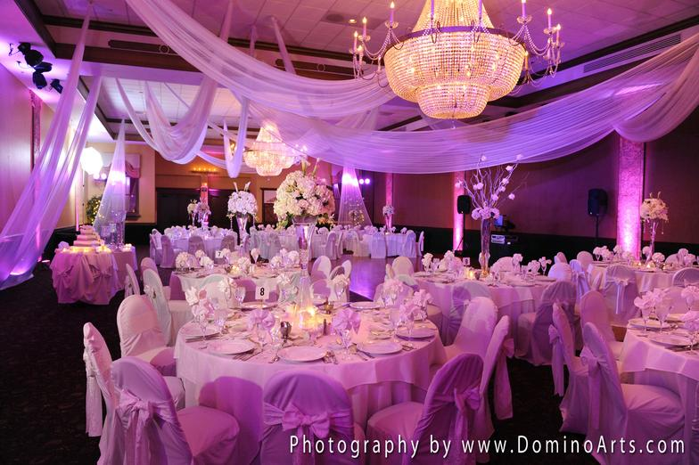 Ceiling White Draping