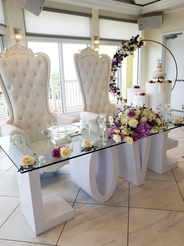 Wedding Love Table & Royal Throne
