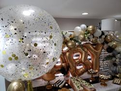 Confetti Balloons & Balloon Arch