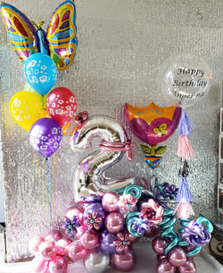 Personalize balloon and balloon flowers!