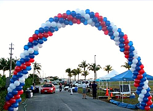 Balloon Arch Over Driveway