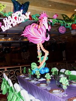 Flamingo Design Balloon Centerpiece