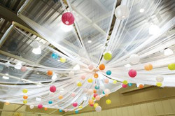 Ceiling Draping and Paper Lanterns