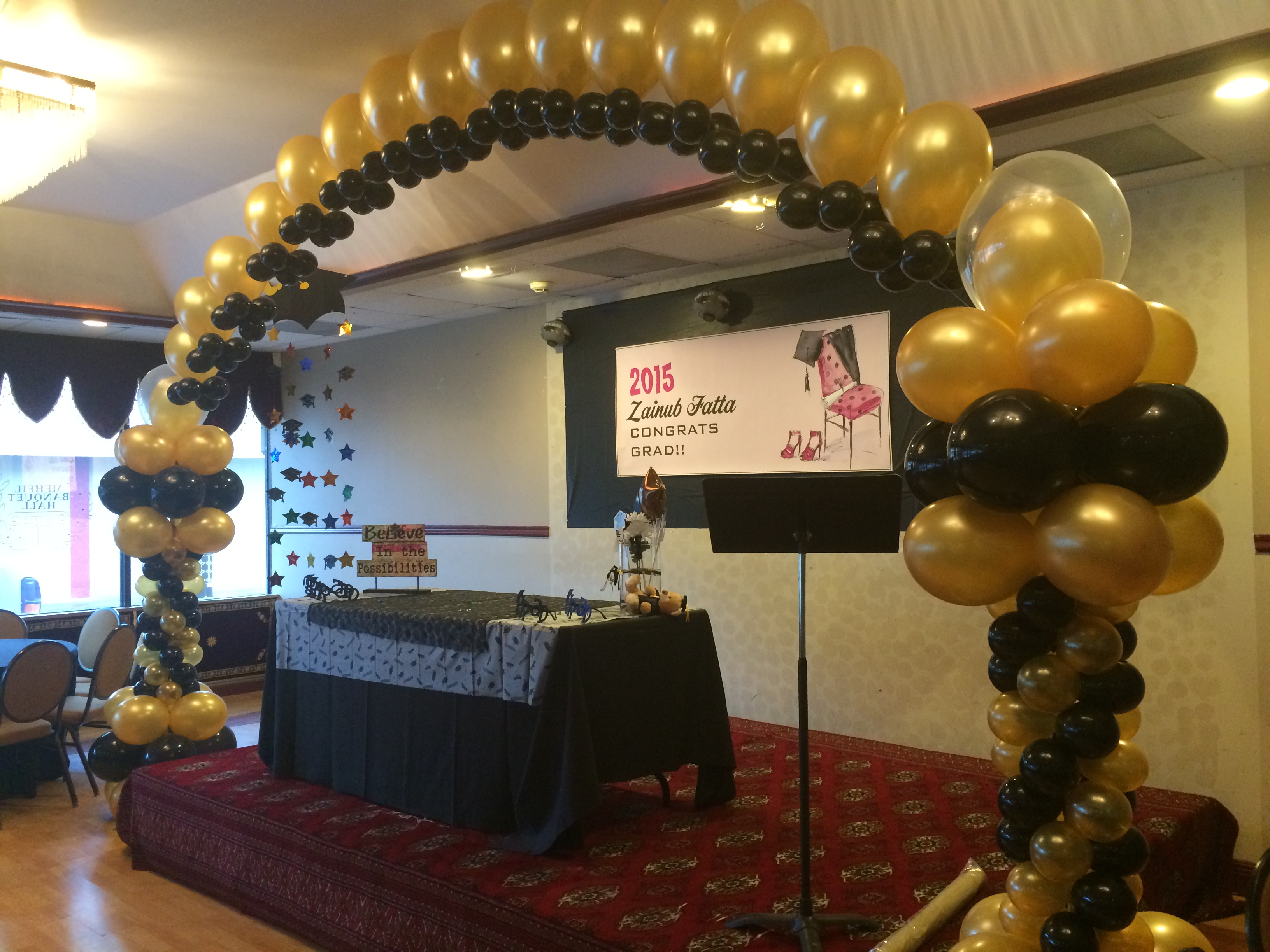 Black & Gold Balloon Arch