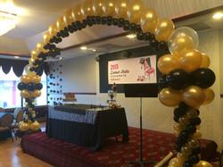 Black & Gold Balloon Arch