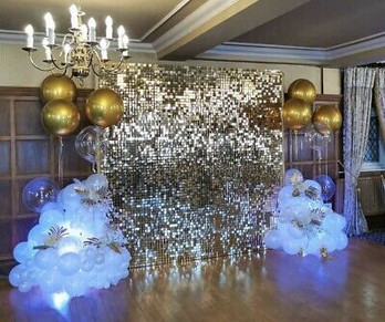 Silver Sequin-Shimmer Backdrop