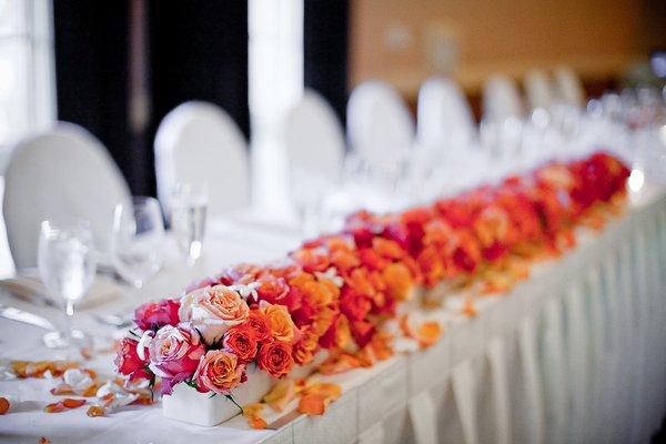 Head Table Long Flower Design