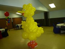 Big Yellow Bird Balloon Column